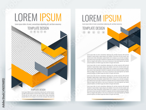 brochure template design flyer background booklet annual report