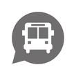 Graue Sprechblase rund - Bus