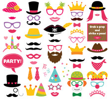 Fun Party Hats, Vector Photo B...