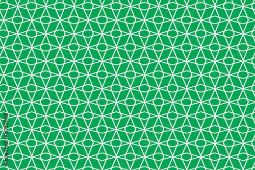 fototapeta na lodówkę Green rhombus net pattern