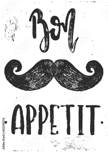hipsterskie-czarne-wasy-i-napis-bon-apetit