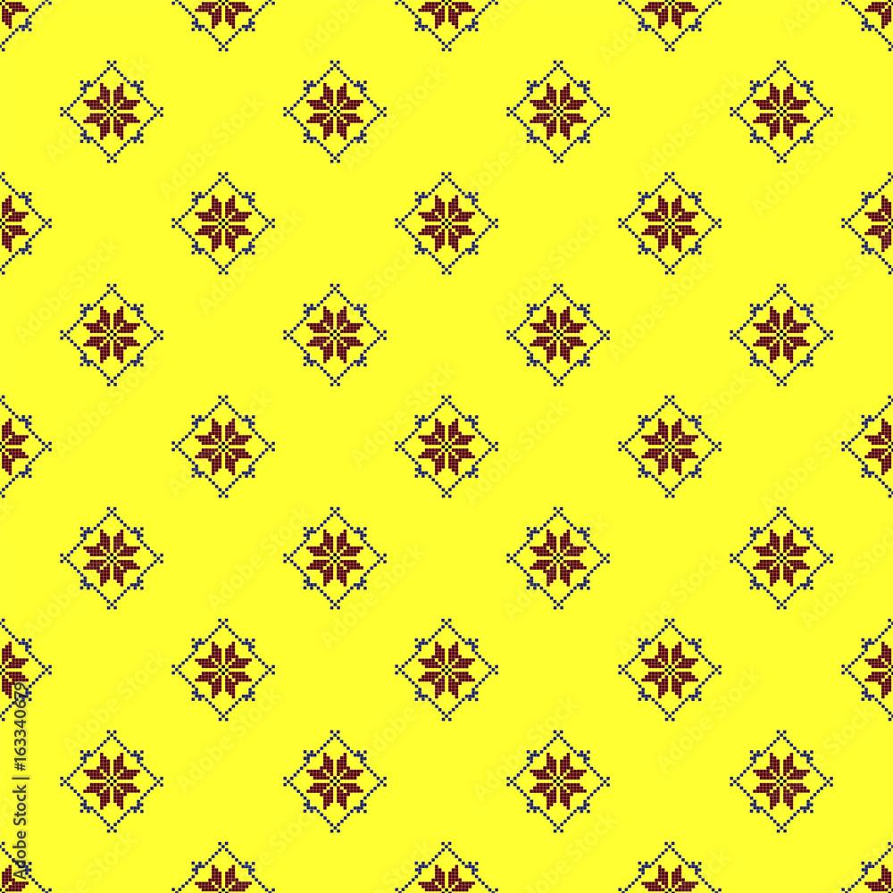 Slavic ethnic pattern vector