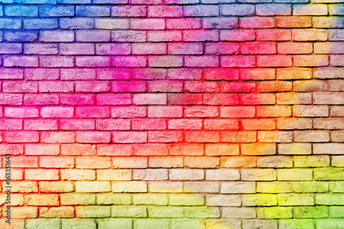 Poster Graffiti Abstract Colorful brick wall background