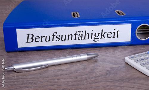 Berufsunfahigkeit Ordner Im Buro Aktenordner Mit Beschriftung