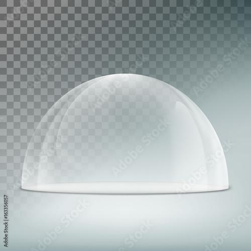 Glass dome on a transparent background Fototapeta