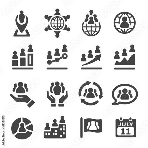 Fototapeta population icon obraz