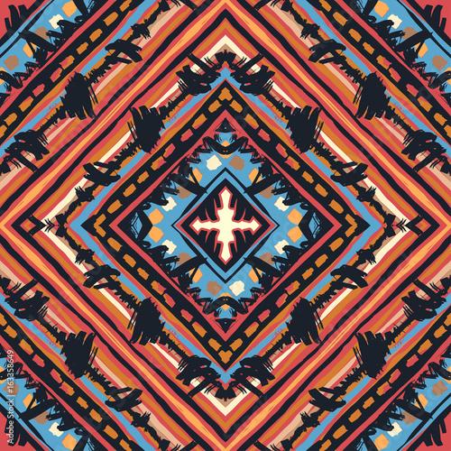 Materiał do szycia Bezszwowe boho tribal wzór.