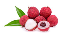 Lychee Isolated On White Backg...
