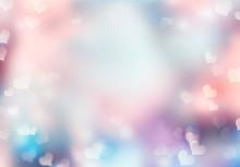 Soft Heart Blur Background.