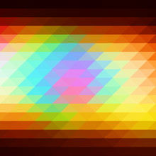 Red Pink Green Blue Brown Rows Of Triangles Background, Square
