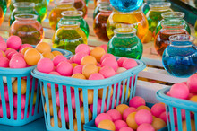 Colorful Balls In Basket And W...