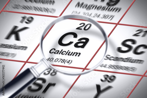 Focus On Calcium Chemical Element Concept Image With The Mendeleev