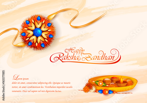 Decorated rakhi for Indian festival Raksha Bandhan Canvas Print