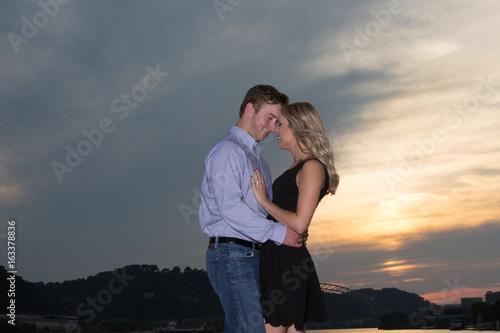 Fotografija  couple at sunset