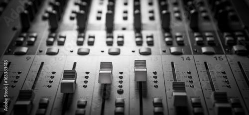 Fotografie, Obraz  Sound music mixer control panel
