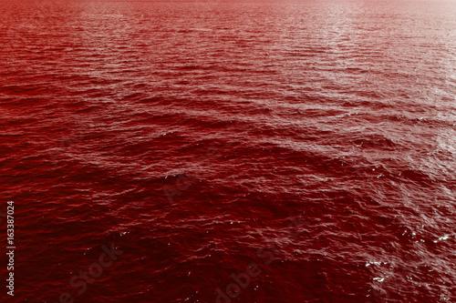 Fotomural  Sea waves of blood