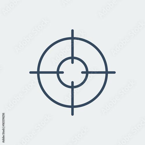 Fotografía  Aim icon. Target symbol. Crosshair. Vector illustration