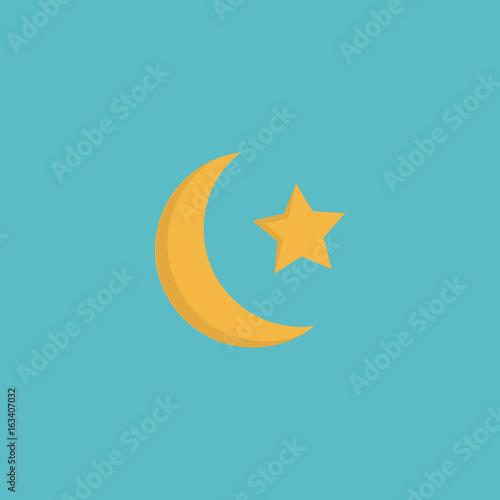 Flat Icon Ramadan Moon Element Vector Illustration Of Flat Icon New
