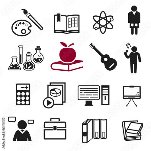 Fotografía  School teaching icon concept