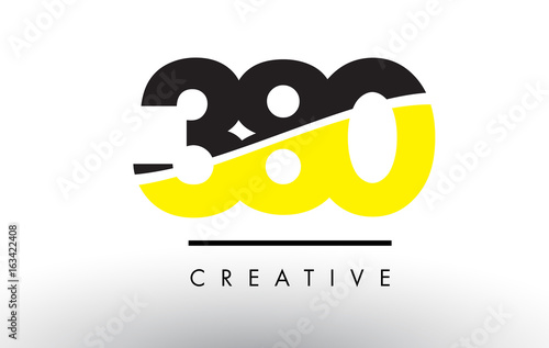 Papel de parede  380 Black and Yellow Number Logo Design.