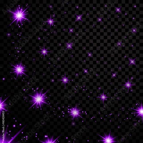 Purple stars black night sky on transparent background abstract purple stars black night sky on transparent background abstract light glitter fantasy sparkles voltagebd Gallery