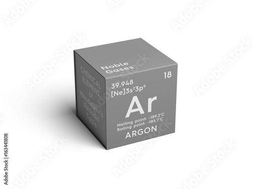 Argon Canvas Print