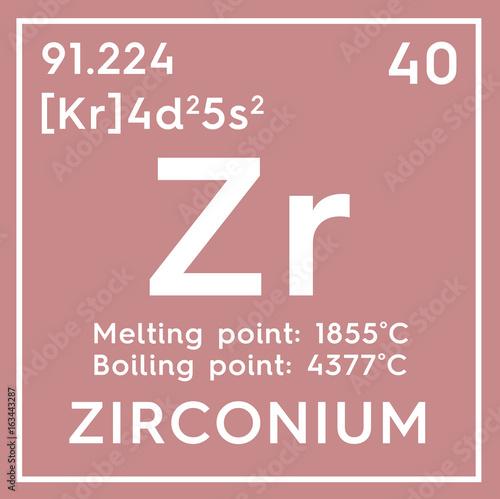 Zirconium Transition Metals Chemical Element Of Mendeleevs