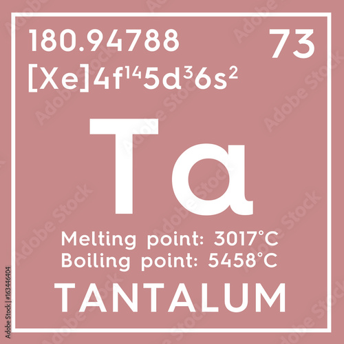Tantalum Transition Metals Chemical Element Of Mendeleevs
