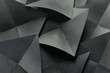canvas print picture - Geometric shapes of paper, grey background