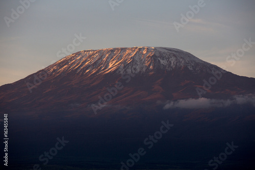 Morning light on Kilimanjaro