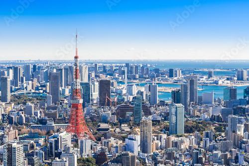 Printed kitchen splashbacks Tokyo 東京 青空と都市風景