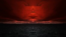 Evil Ocean Sky, Abstract Artistic Nature Background