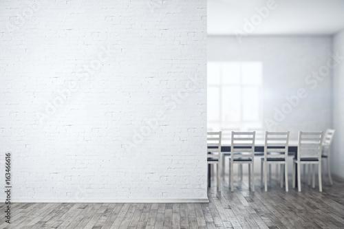 Foto op Plexiglas Wand Meeting room with empty wall