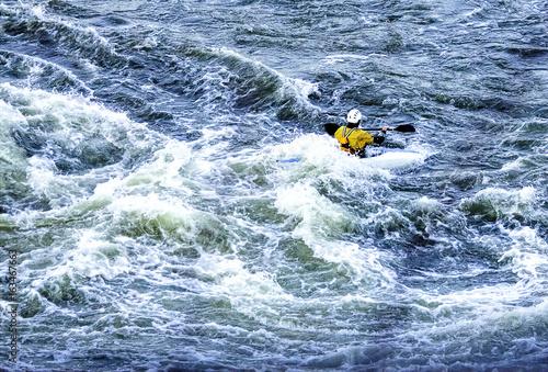 Fotografie, Obraz  Kayakers in River