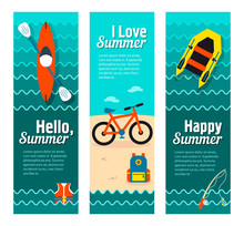 Travel And Vacation Vector Banners
