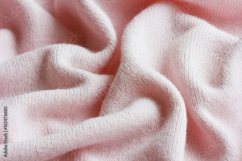 Cuadros en Lienzo surface of a soft knitted fabric made of cashmere with large folds, a detail of