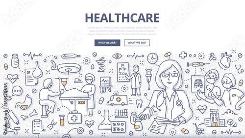 Fotografía  Healthcare Doodle Concept