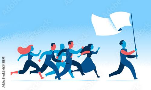 Fotografie, Obraz Seguire il leader e un ideale