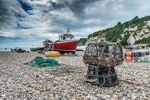 Fishing Boat On Beer Beach, De...