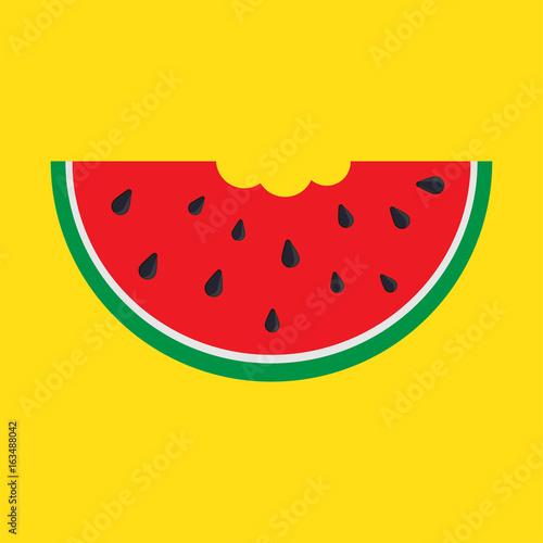 Watermelon Slice, with bite taken off