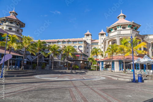 Leinwand Poster port louis waterfront zentrum hauptstadt von mauritius