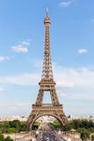 Fototapeta Wieża Eiffla - View of the famous Eiffel Tower from Place de Trocadero in Paris. France.