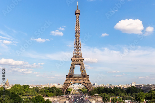 Wall Murals Eiffel Tower View of the famous Eiffel Tower from Place de Trocadero in Paris. France.