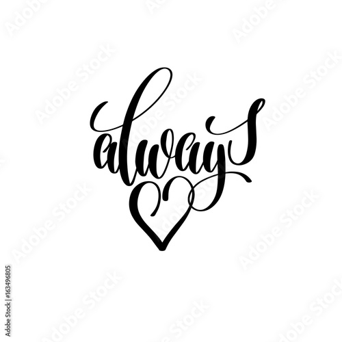 Photo  always in love lettering poster