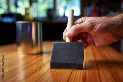 Fotografie, Obraz  refinishing a wood table