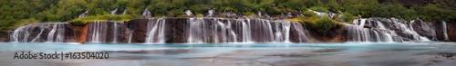 Deurstickers Watervallen Hraudfossar Waterfall, Iceland