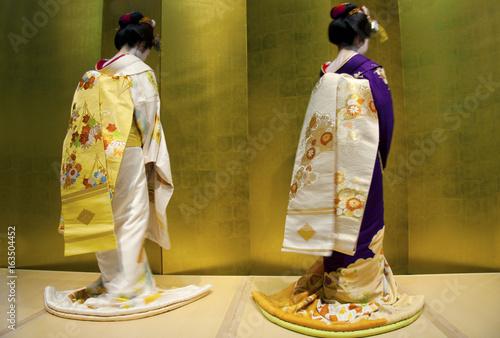 Unidentified japanese geishas Fototapet