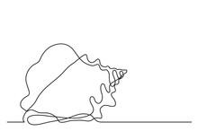 Single Line Drawing Of Sea Shell