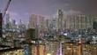 Sham Shui Po, Hong Kong, 8 May 2017 -: Hong Kong city at night
