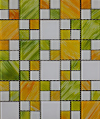 Fototapeta Texture of colored glossy mosaic tile